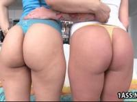 Hot ass Angel Vain and Liz share a cock