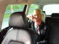 Blonde gets fucked and ass cumshot in fake taxi