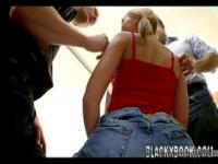 Blonde slut gets her ass banged - b