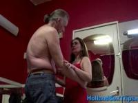 Old tourist fucks hooker after getting bj