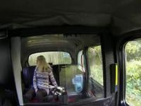 Chubby blonde pussy fucked in fake taxi