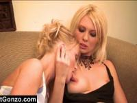 Hot Lesbian Action On The Couch