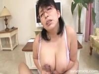 Titfuck and Blowjob with Japanese MILF