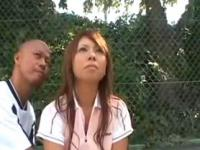 Asian Tennis Court Public Sex