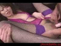 Mosaic; Japanese babe playing with dildo