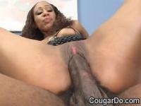 Hot black girl gets her pussy fucked by a big black coc