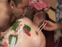 Mature Fat Asian in Kimono