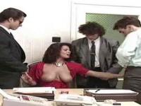 Angelica office gangbang