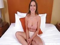 Casting with a multi-orgasmic brunette