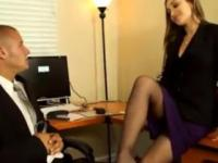 Dani Daniels has sex at the office out of boredom