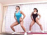Two japanese shake hip in leotard