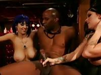 Punks Larkin Love and Brittany Lynn fucked by a black cock