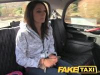 FakeTaxi Innocent girl takes on two cocks on valentines day
