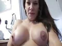 Helping her son masturbate
