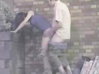 horny couple sex on the street