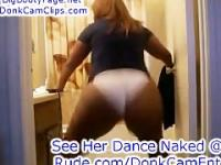Sexy Ass Big Booty Black Girl Dancing in Tight Shorts