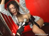 Hardcore treatment for Jap woman as pussy gets pumped