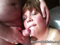 UK amateur facial cumshot party