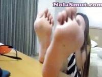 Asian Sexy Feet Foot Fetish Tease