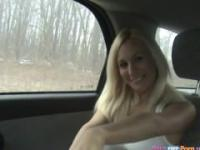 Amateur Blonde Car Sex