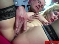 Real dutch blonde hooker gets fingered by lucky tourist
