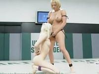 Two Tiny Blonde Porn Stars Battle