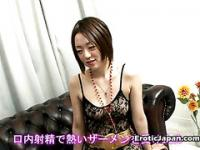 Stupid japanese slut deeply excited to swallow cock