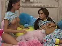 Two latinas tease and get fucked