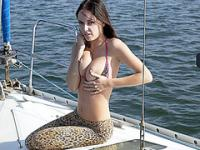 Hot brunette teen slut fucked on a boat
