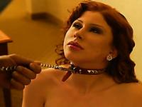 Beautiful curvy redhead gets dominated and fucked like a slave