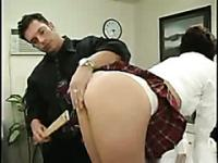 College intern spanked for being naughty