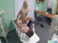 Doctor fucks his blonde patient
