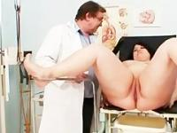 Big tits fat mom Rosana gyno doctor examination