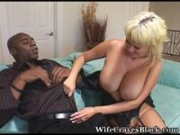 Blond MILF and her black stallion