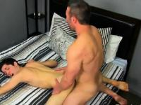 Gay clip of He gets on his knees and deepthroats Brock\'s kno
