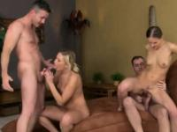 Wild Sexually Active Couples Have Hot Foursome