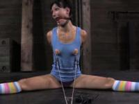 Drooling sub in electrosex punishment