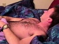 Gay bear sucking on a young amateur jock cock