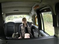 Alluring April gets rammed in the cab