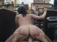 Brunette Amateur Getting Drilled On Desk In A Pawn Shop