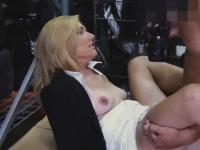Dirty Blonde Fucked And Facial In Back Of Pawn Shop
