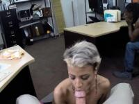 Ebony BF pawns her gf at the pawnshop to earn more money