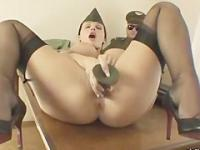 Aletta Ocean in army uniform fucks a real bomb
