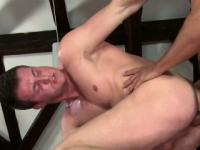 Straighty fucks and cums on masseur