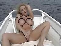 Sailing with a busty MILF
