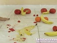 Lelu Love-Naked Femdom Food Crushing 1of3