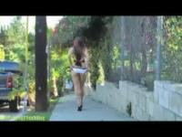 Jessica Steele - Flashing Babe  Bare Assed Naked on the streets o