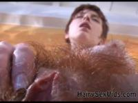 Real wet hairy teen pussy