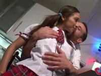 Pretty little student gets fucked double penetration by perverts!