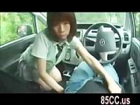 innocent schoolgirl blowjob in car